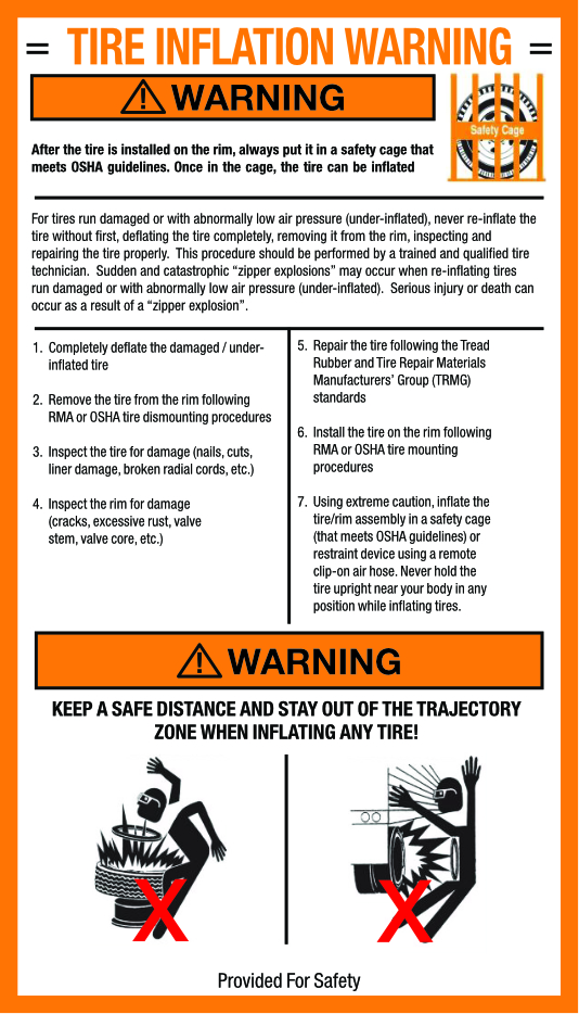 TIRE INFLATION WARNING